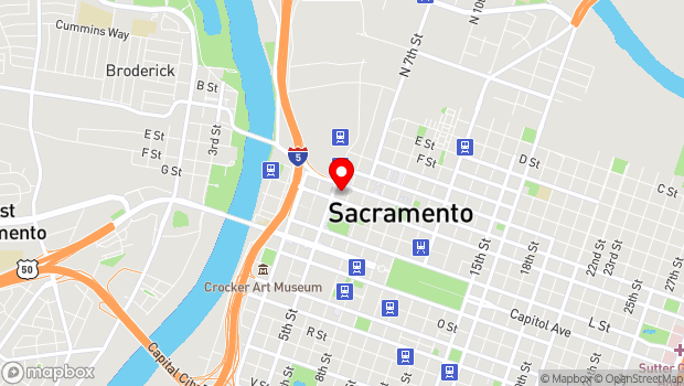 Google Map of 500 J St., Sacramento, CA 95814