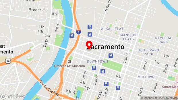 Google Map of 500 David J Stern Walk, Sacramento, CA 95814