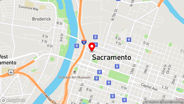 Google Map of 429 J Street, Sacramento, CA 95814