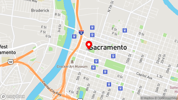Google Map of 547 L St, Sacramento, CA 95814