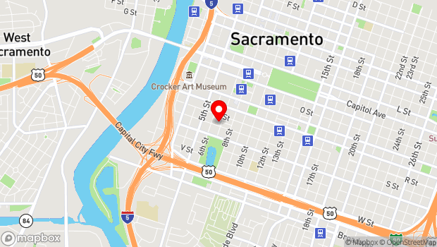 Google Map of 625 S St., Sacramento, CA 95811