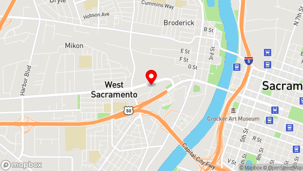 Google Map of 1075 West Capitol Ave., West Sacramento, CA 95691