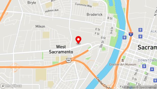Google Map of 1110 West Capitol Avenue, Sacramento, CA 95691