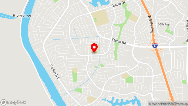 Google Map of 7335 Gloria Drive, Sacramento, CA 95831