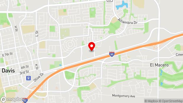 Google Map of 607 Pena Drive, Davis, CA 95618