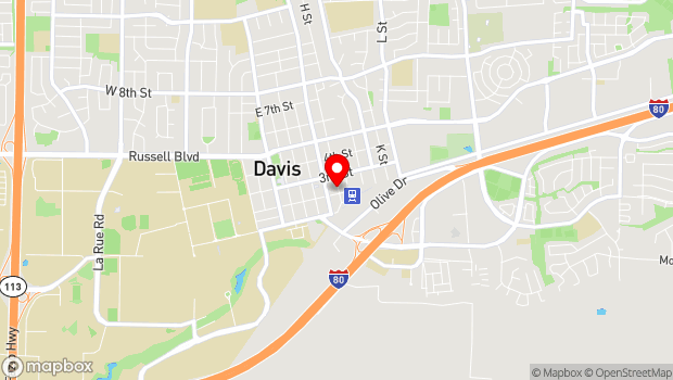 Google Map of 207 G St., Davis, CA 95616