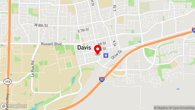 Google Map of 617 2nd Street, Davis, CA 95616