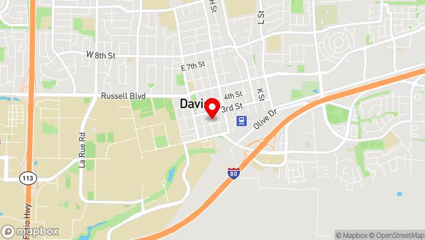 Google Map of 212 D Street, Davis, CA 95616