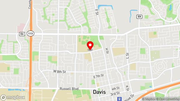 Google Map of 203 East 14th St., Davis, CA 95616