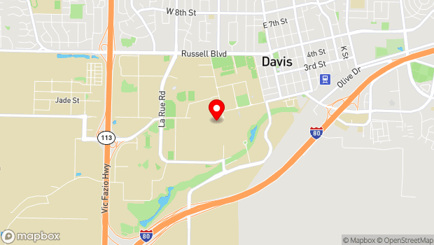 Google Map of One Shields Ave, Davis, CA 95616
