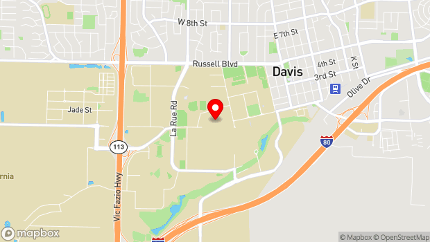 Google Map of One Shields Ave., Davis, CA 95616