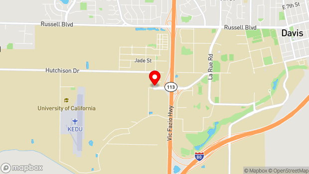 Google Map of 144 Hutchison Dr, Davis, CA 95616