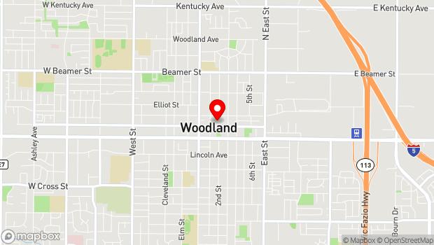 Google Map of 625 Court St., Woodland, CA 95695