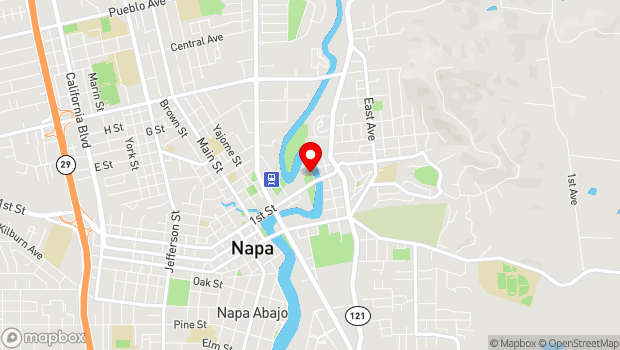 Google Map of 500 First Street, Napa, CA 94559