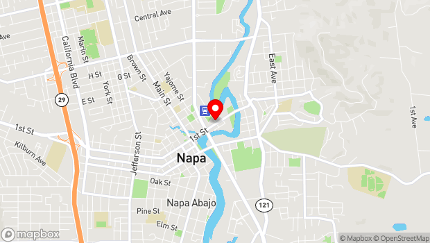 Google Map of 1268 McKinstry St, Napa, CA 94559
