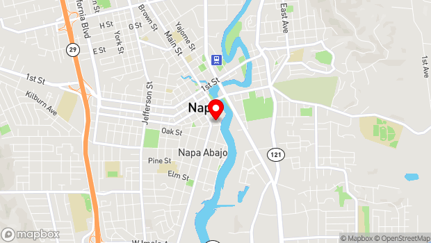 Google Map of 580 Coombs St., Napa, CA 94559