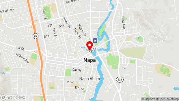 Google Map of 1030 Main Street, Napa, CA 94559