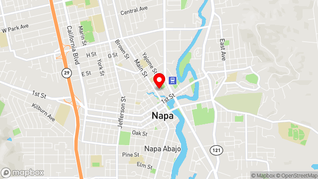 Google Map of 964 Pearl St., Napa, CA 94558
