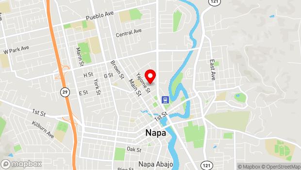 Google Map of 850 Vallejo Street, Napa, CA 94559