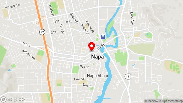 Google Map of 1230 First Street, Napa, CA 94559