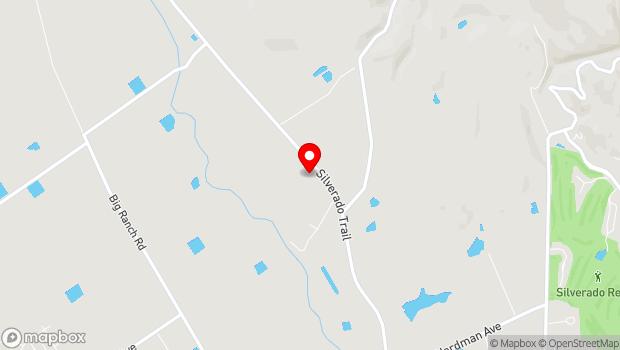 Google Map of 4089 Silverado Trail, Napa, CA 94558
