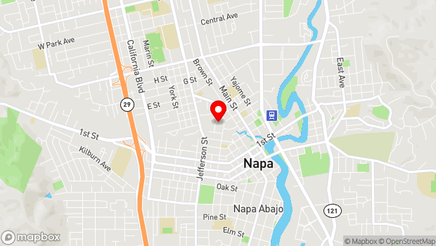 Google Map of 1520 Behrens Street, Napa, CA 94559
