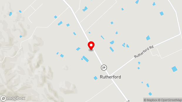 Google Map of 1829 St Helena Hwy, Rutherford, CA 94573