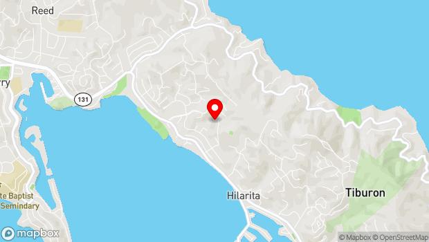 Google Map of 145 Rock Hill Drive, Belvedere Tiburon, CA 94920