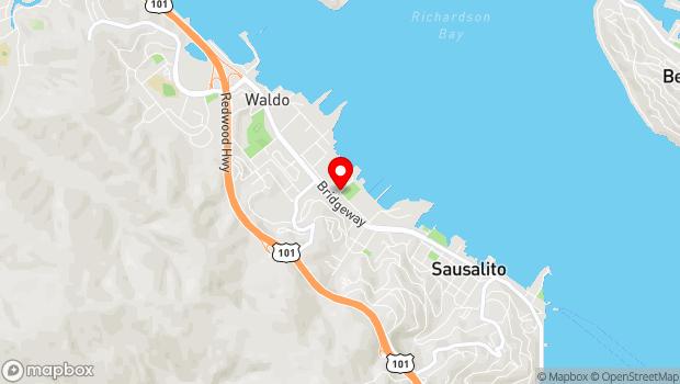 Google Map of Marinship Way, Sausalito, CA 94966