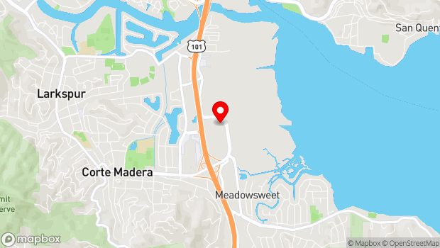 Google Map of 1618 Redwood Hwy, Corte Madera, CA 94925