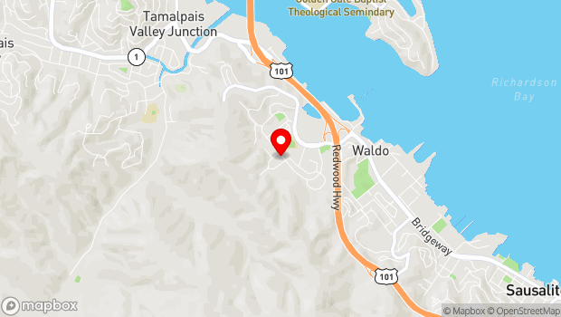 Google Map of 501 Drake Avenue, Sausalito, CA 94965
