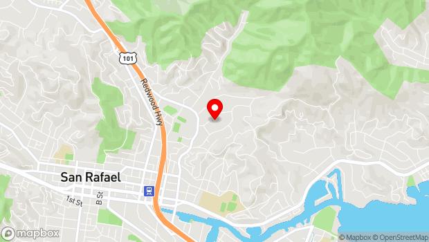 Google Map of 50 Acacia Ave, San Rafael, CA 94901