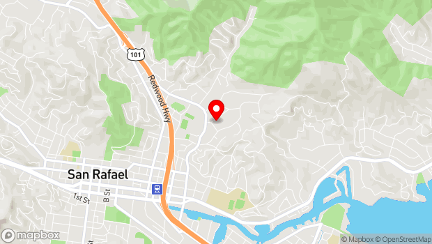 Google Map of 20 Olive Ave., San Rafael, CA 94901