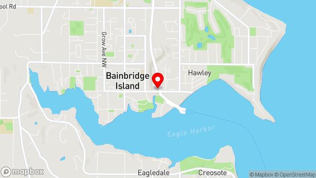 Google Map of 550 Winslow Way East, Bainbridge Island, WA 98110