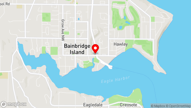 Google Map of 550 Winslow Way East, Bainbridge Island, WA 98110