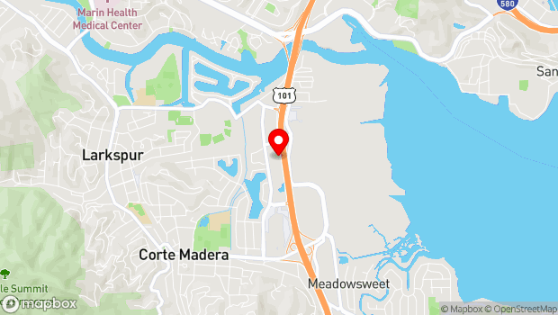 Google Map of 51 Tamal Vista Blvd., Corte Madera, CA 94925