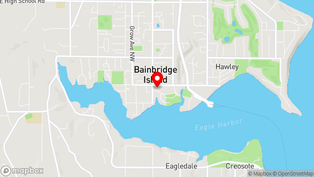 Google Map of 151 Winslow Way E., Bainbridge Island, WA 98110