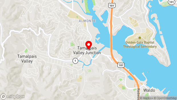 Google Map of 254 Shoreline Hwy, Mill Valley, CA 94941