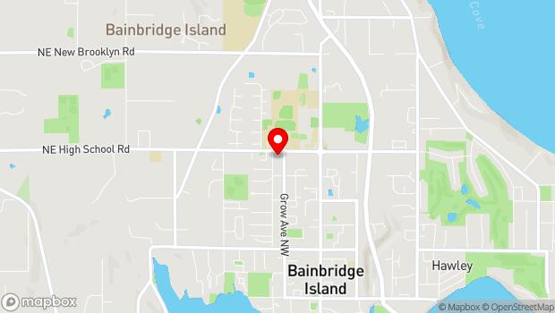 Google Map of 1299 Grow Ave. NW, Bainbridge Island, WA 98110