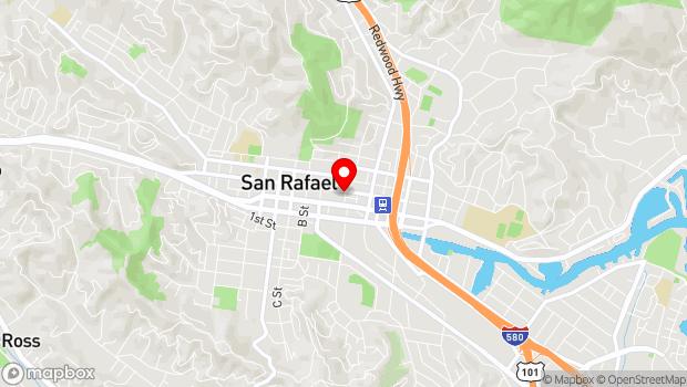 Google Map of 905 4th St., San Rafael, CA 94901
