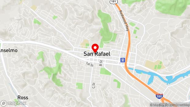 Google Map of 1344 Fourth Street, San Rafael, CA 94901