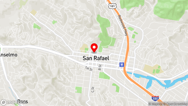 Google Map of 1400 5th Avenue, San Rafael, CA 94901