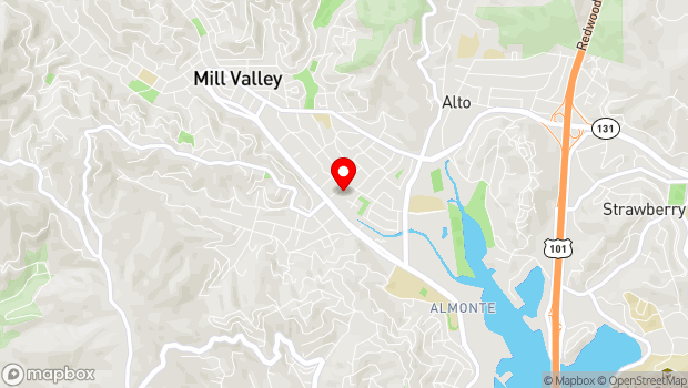 Google Map of 401 Miller Ave., Suite A, Mill Valley, CA 94941