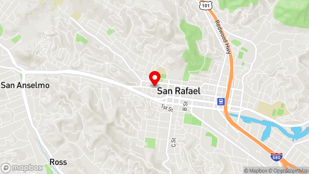 Google Map of 1560 4th Street, San Rafael, CA 94901