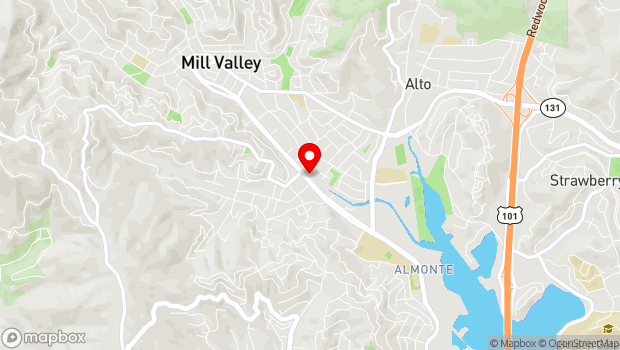 Google Map of 397 Miller Avenue, Mill Valley, CA 94941