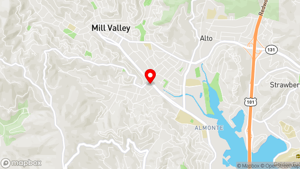 Google Map of 390 Miller Avenue, Mill Valley, CA 94941