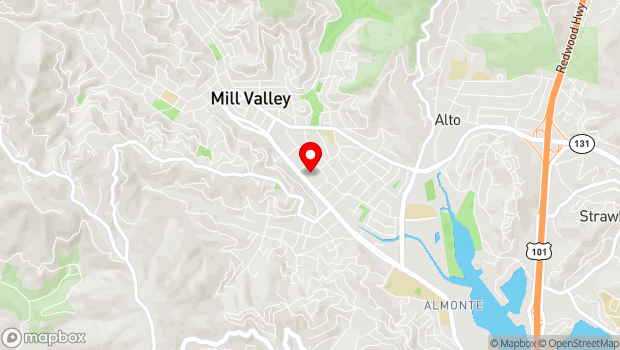 Google Map of 285 Miller Avenue, Mill Valley, CA 94941