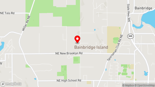 Google Map of Bainbridge Island, WA 98110