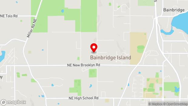 Google Map of Bainbridge Island, WA 98110