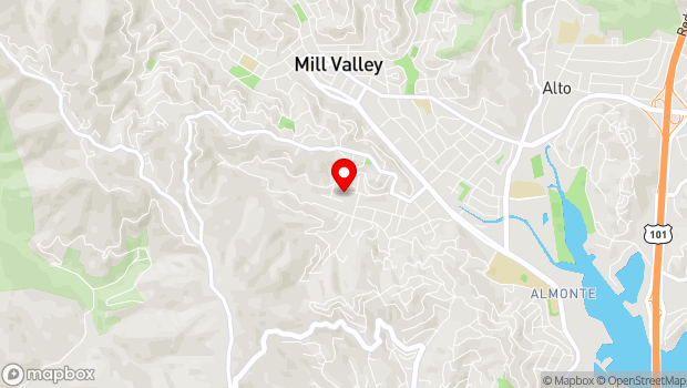 Google Map of 315 Montford Ave., Mill Valley, CA 94941